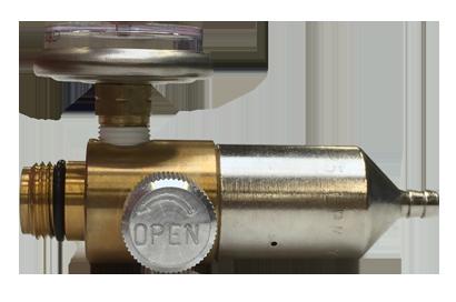 Side view 1000 psi gas regulator